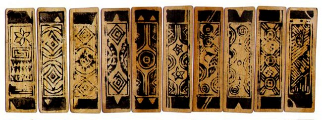 cartas de tarot en caña de bambu